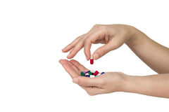 Pill in hand Royalty Free Stock Photography