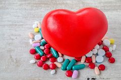Heart medication royalty free stock photo
