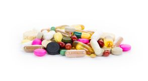 Pill heap Royalty Free Stock Image