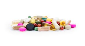 Pill heap Royalty Free Stock Photos