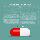 Pill infographic. Red and white. Vector illustration vector illustration