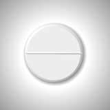 Pill. Isolated on  gray background. Vector illustration Royalty Free Stock Photo