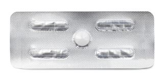 Pill. Isolated on white background stock images