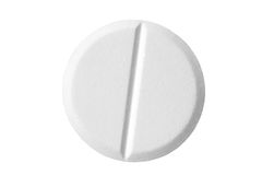 Pill isolated on white background with clipping path Stock Photo