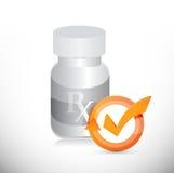 pill jar check mark cycle illustration Royalty Free Stock Photos