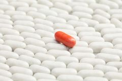 Pill that make difference Royalty Free Stock Images