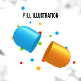 Pill medication vitamin design. Health medicine concept template Stock Photography