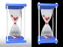 Pill medicinal glass. Isolated 3d, HDRI lightning Stock Image