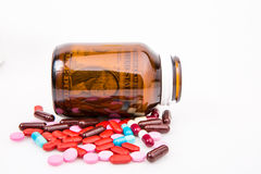 Pill and money Stock Image