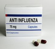 Pill package anti flu Stock Image