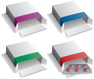 Pill packs and medical pills Royalty Free Stock Photos