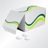 Pill with pillbox Royalty Free Stock Images