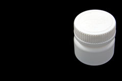 Pill's box. Box for pills isolated on the black background Stock Photo