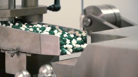 Pill`s machine for making capsules stock video footage