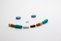 Pill Smiley Face Royalty Free Stock Photos