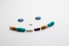 Pill Smiley Face royalty free stock photos