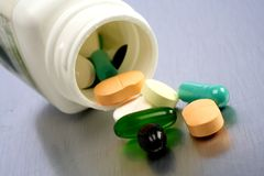Pill spill Royalty Free Stock Photography