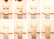 Pill/ tablet dissolving in water Royalty Free Stock Photo