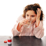 Pill Taking Tween Royalty Free Stock Images