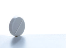 Pill On White Royalty Free Stock Images