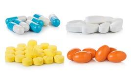 Pill on white background. Closeup pill on white background Royalty Free Stock Photos