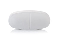 Pill on white background. Closeup pill on white background Stock Image