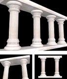 Pillar. (architecture) Column 3D illustration royalty free illustration