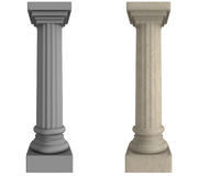 Pillar. One grey pillar / column and one Alabaster.  Both in classic greek / roman style