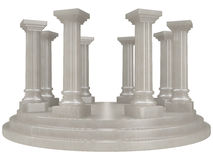 Pillar. Alabaster pillar rotunda in classic Greek / Roman architectural style Royalty Free Stock Image