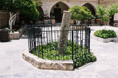 Pillar of ancient Monastery Kera Kardiotissa Royalty Free Stock Photography