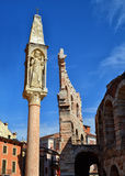 Pillar by the Arena in Verona Royalty Free Stock Photo
