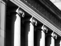 Pillar on an art gallery in sheffield royalty free stock images