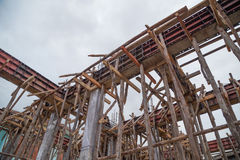 Pillar and beam being constructed Royalty Free Stock Photos