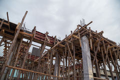 Pillar and beam being constructed Royalty Free Stock Image