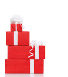 Pillar of boxes with presents Stock Images