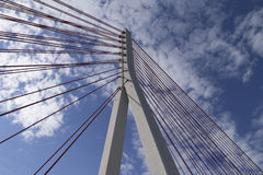Pillar of the bridge suspended situated Stock Image
