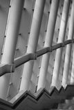 Pillar in the building. With clear architecture Royalty Free Stock Image