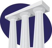 Pillar of buildings Royalty Free Stock Photos