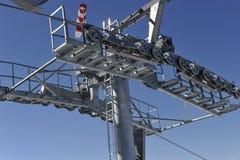 Pillar of a Cable Car Stock Image