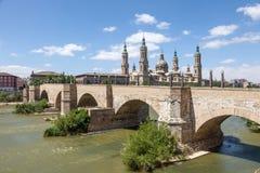 Pillar Cathedral in Zaragoza, Spain Royalty Free Stock Image