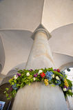 The Pillar and the Cealing. The Old Town of Bergamo Stock Photo