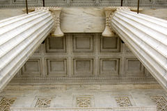 Pillar and Ceiling Detail. Architectural Detail of Pillars and Ceiling Stock Photo