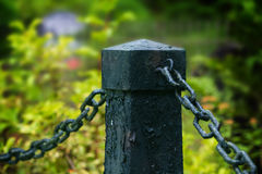 Pillar with chain Royalty Free Stock Photos