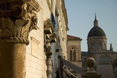 Pillar, Dubrovnik. An ornate column in downtown Dubrovnik, Croatia Royalty Free Stock Photography