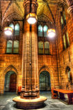 A Pillar of Education in the Cathedral of Learning Stock Image