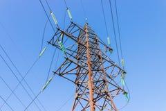 Pillar of electric mains Royalty Free Stock Photo