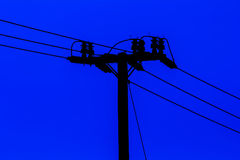 Pillar for electricity line Royalty Free Stock Photo