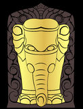 Pillar of elephant Stock Image