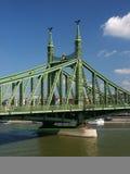 Pillar of Freedom Bridge. (Szabads�g-h�d) above River Danube (Duna) in Budapest, Hungary, Europe Royalty Free Stock Photo