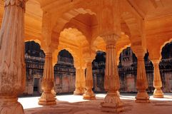 Pillar gallery in Jaipur. Gallery of pillars in palace in Jaipur,India Stock Photography